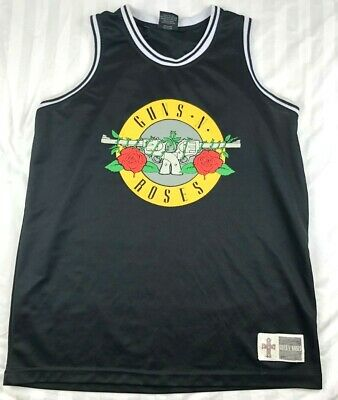Guns N Roses Men's XL Basketball Jersey Black Sleeveless Welcome to the Jungle