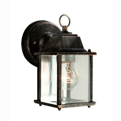 70ab841e06a Bel Air Lighting 1-Light Black Copper Outdoor Wall Coach Lantern with Clear  Glas