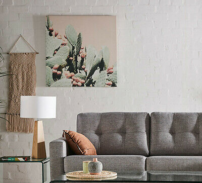 NEW Cactus Bloom Wall Art Mint By Fantastic Furniture