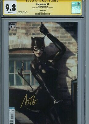 Catwoman #1 Variant Edition Cgc 9.8 Ss Signed By Stanley Artgerm Lau