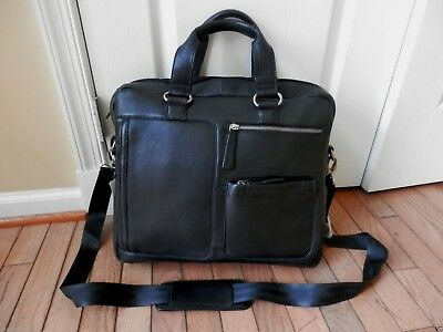 New BOSCA GENUINE LEATHER CARRY ON BAG / BRIF CASE