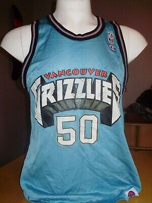 9b2a715df35 BRYANT REEVES AUTHENTIC Champion Jersey Vancouver Grizzlies Mike ...