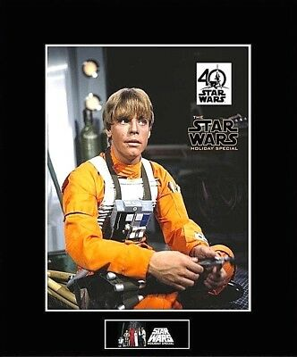 """STAR WARS Luke Skywalker Holiday Special 8""""x10"""" Picture - 11""""x14"""" Black Matted"""