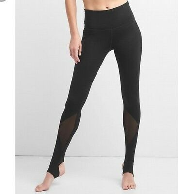 a5d3e5f7c0 NEW Gap GapFit GFast Womens Stirrup High Rise Mesh Leggings Pants Athletic  M $64