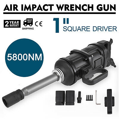"""5800N.m 1"""" Impact Wrench Pneumatic Long Nose HEAVY DUTY 13MM/0.5INCH 5800NM"""