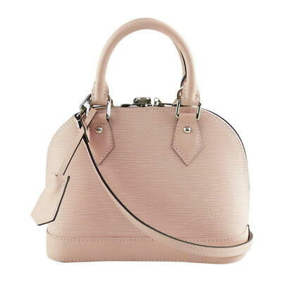 9a903307a9027 Louis Vuitton Epi Alma Bb Damen Handtasche Rose Ballerinas Auth