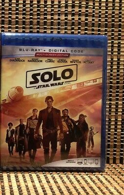 Star Wars: Solo (2-Disc Blu-ray,2018)Disney/Han/Ron Howard/Millennium