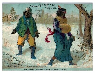 Clarence Brooks & Co. Varnishes The Lovers Quarrel New York Victorian Trade Card