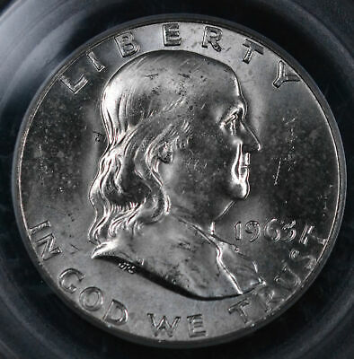 1963-D 50C Franklin Half Dollar Uncirculated - PCGS MS 64