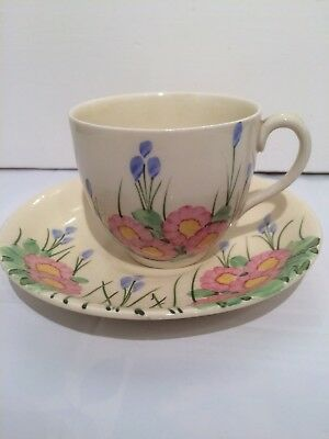 E Radford Cup and Saucer