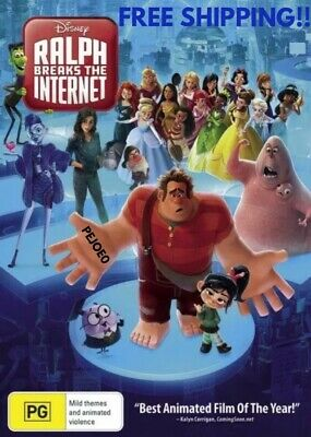 Ralph Breaks The Internet DVD Disney Reg 4 FREE POST! (2018) New!