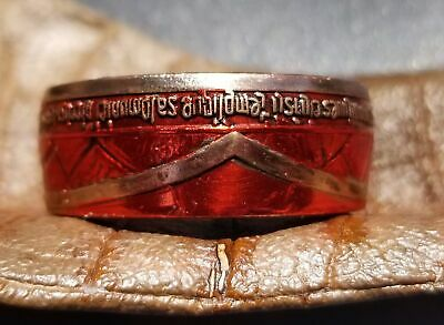 Templar Knight coin ring made from iron commemorative coin