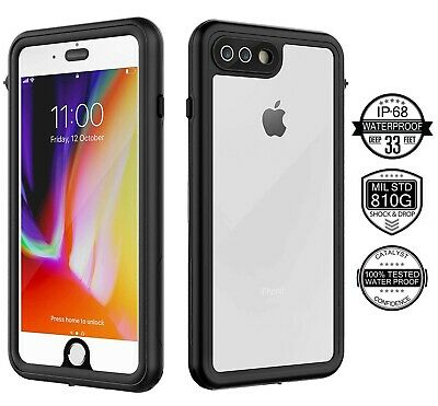 For iPhone 7 8 Plus Waterproof Dirtproof Shockproof Case Cover Screen Protector