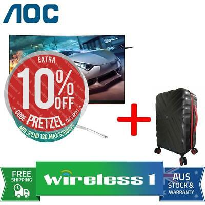 AOC AGON AG322QC4 31.5in QHD 144Hz Curved Gaming Monitor + Travelling Suitcase