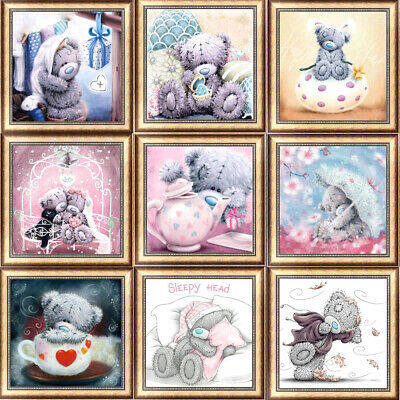 Bear DIY 5D Diamond Painting Kitten Cross Stitch Kits Home Decor Craft Art