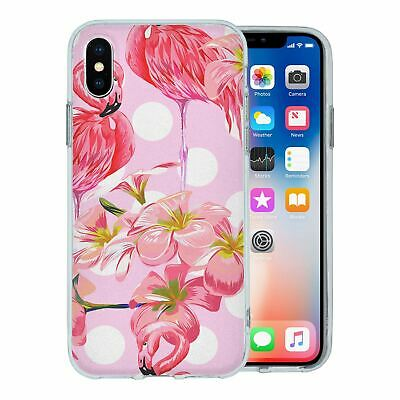 Pour Apple Iphone XS Étui en Silicone Flamant Rose Tropical Motif - S5640