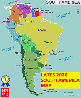 Latest South America Map 2019 for Garmin GPSs