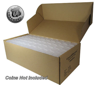 Medallion (Silver Round) Square Coin Tubes by Guardhouse, 39mm, 100 pack