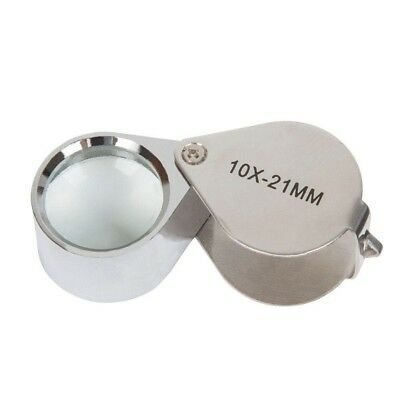 Deluxe/Folding LED Jewelers Loupe 10x-21mm