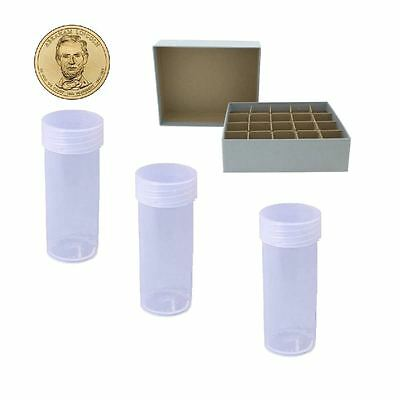 Guardhouse Small Dollar/Gray Coin Tube Box with 20 small dollar DURA Clear Tubes