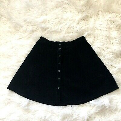 39febdce11 Womens Brandy Melville Black Corduroy Above The Knee A Line Skirt OS Small
