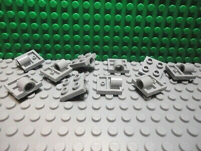 Lego 4 Light Bluish Gray 2x2 plate with 1 pin hole car truck