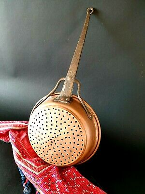 Old Turkish Copper Strainer / Sieve …beautiful display and collection piece