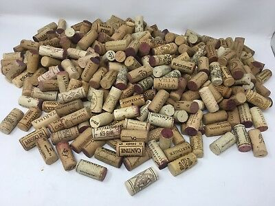 375 Natural Used Wine Corks Various Brands For Craft Projects Real Cork Only