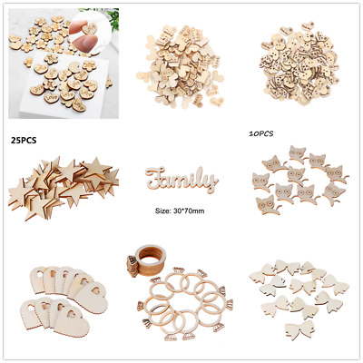 72 Style/Shaped Unfinished DIY Craft Use Wooden Pieces Fit for Most Of Occassion