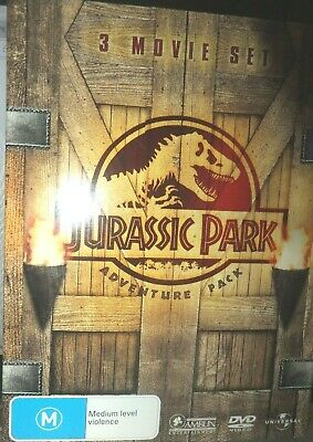 JURASSIC PARK  Adventure Pack 1 2 3 DVD R4: as NEW