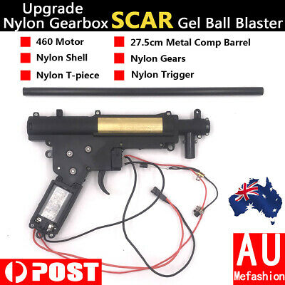 Upgrade Nylon Gearbox + Tube For JinMing SCAR V2 Water Gel Ball Blaster Mag-fed