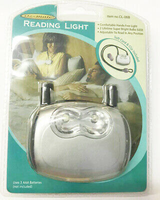 2 Pcs LED Reading Light Portable Light Weight Comes with belt clip & necklace