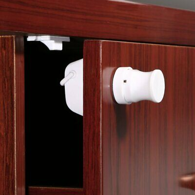 Magnetic Drawer Kitchen Cabinet Cupboard Lock Latch Child Baby Toddler Safety pg