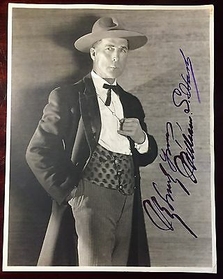 WILLIAM S. HART,  PHOTOGRAPH SIGNED, Silent Screen Cowboy Star