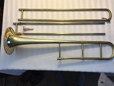 1900 French Word Fair of Paris COUESNEN  Authentic Trombone.