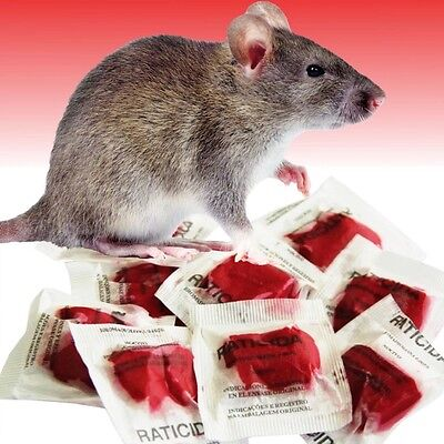 """""""This STUFF Really Works"""" Rodent Rat Mouse  Mouse Poison 100 Packets 1000 grams"""
