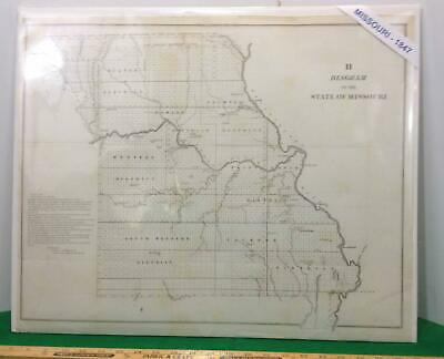 MAP, F R Conway / DIAGRAM OF THE STATE OF MISSOURI 1847 Imperial Edition