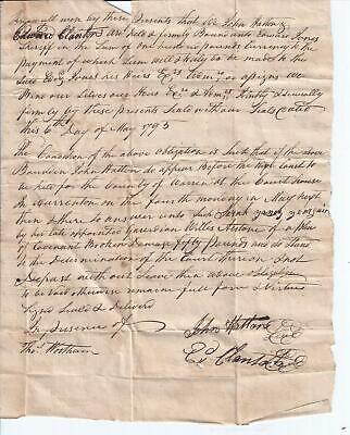 Tho Wortham / 1793 Contract with Plea of Covenant Broken Signed
