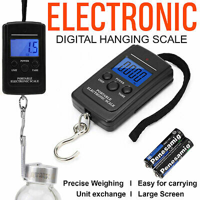 Portable 40kg/10g LCD Digital Hanging Luggage Weight Electronic Hook Scale