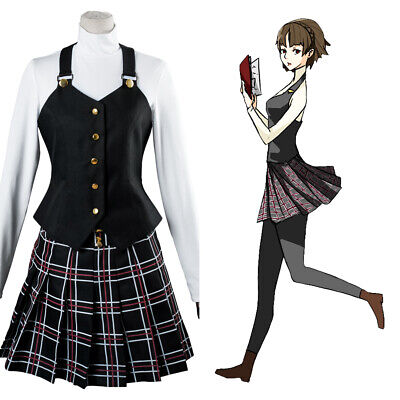 Persona 5 Makoto Niijima Queen Winter School Uniform Dress Cosplay Costume Wig