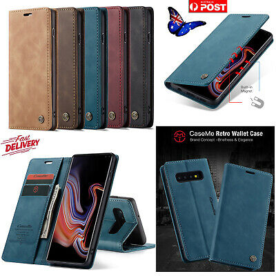 Luxury Magnet Leather Flip phone Case Wallet Card Slot For Samsung S10 & iPhone