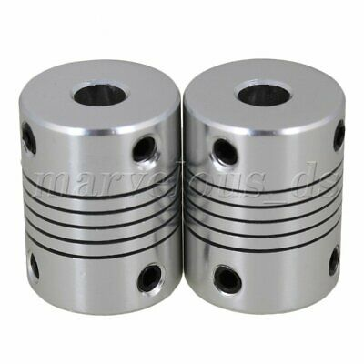 2pcs 6x6mm Dia Bore Alloy Flexible Shaft Coupling for Stepper Motor D19L25