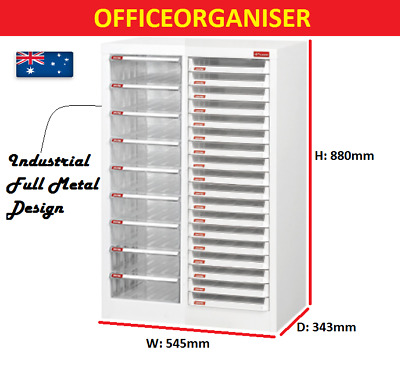 Industrial Metal Office Filing Cabinet Parts Organiser w/ Writable Label Trays