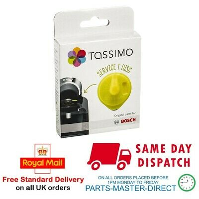 Genuine Bosch Tassimo Yellow Service T Disc Descaling Cleaning Descaler 00576836