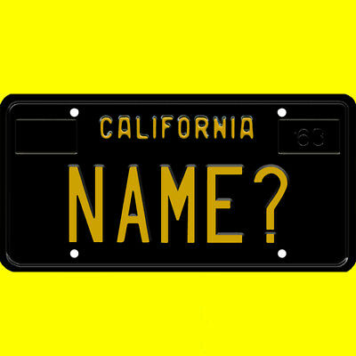 License plate, golf cart, mobility scooter - California design, custom, any name