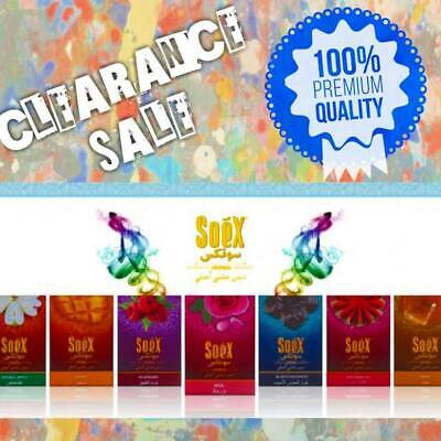 30 Packs of Premium Shisha Genuine Soex flavours for Hookah pipe, 120 Mouth tips