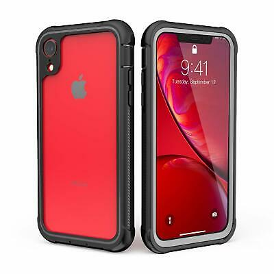 For iPhone XR Case Clear Rugged Heavy Duty Shockproof Case with Screen Protector