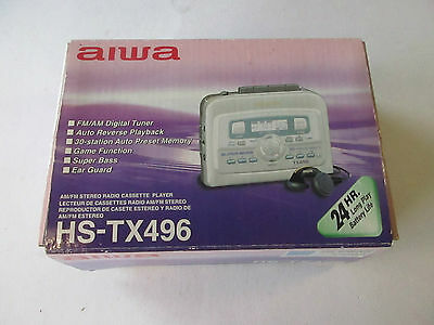 vintage: AIWA stereo cassette player HS-TX496 -boxed-