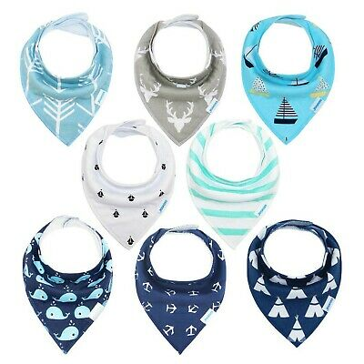 Baby Bandana Dribble Bibs 8 Pack Drool Bibs for Drooling and Teething Super S...