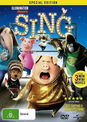 Sing (DVD, 2017), NEW SEALED REGION 4 AUSTRALIAN RELEASE